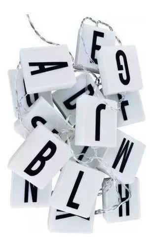 guirnalda 10 letras led scrabble blanco calido 2 metros deco