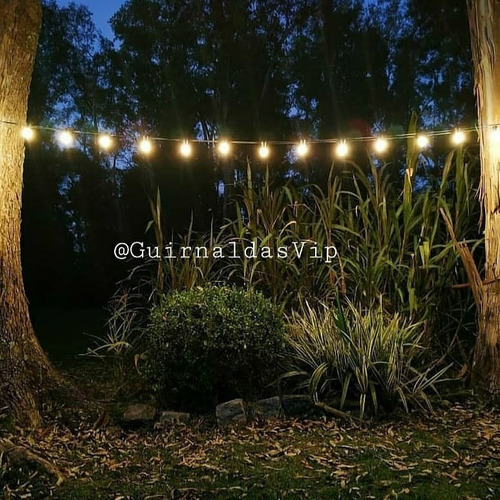 guirnalda 10 metros colgante exterior lluvia + luces vintage