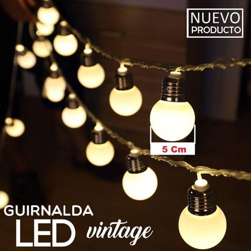 guirnalda 14 lamparitas led 5 mt 220w calido interconectable