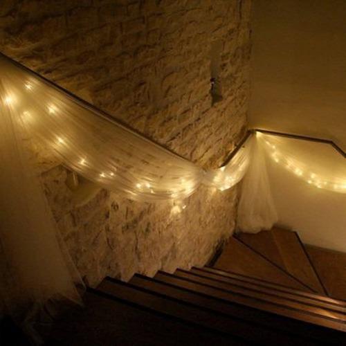 guirnalda 20 luces blancas calida  led 3mts a pilas exterior