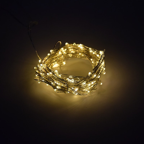 guirnalda 2m mini luces 20 led decoración a pila luciernagas