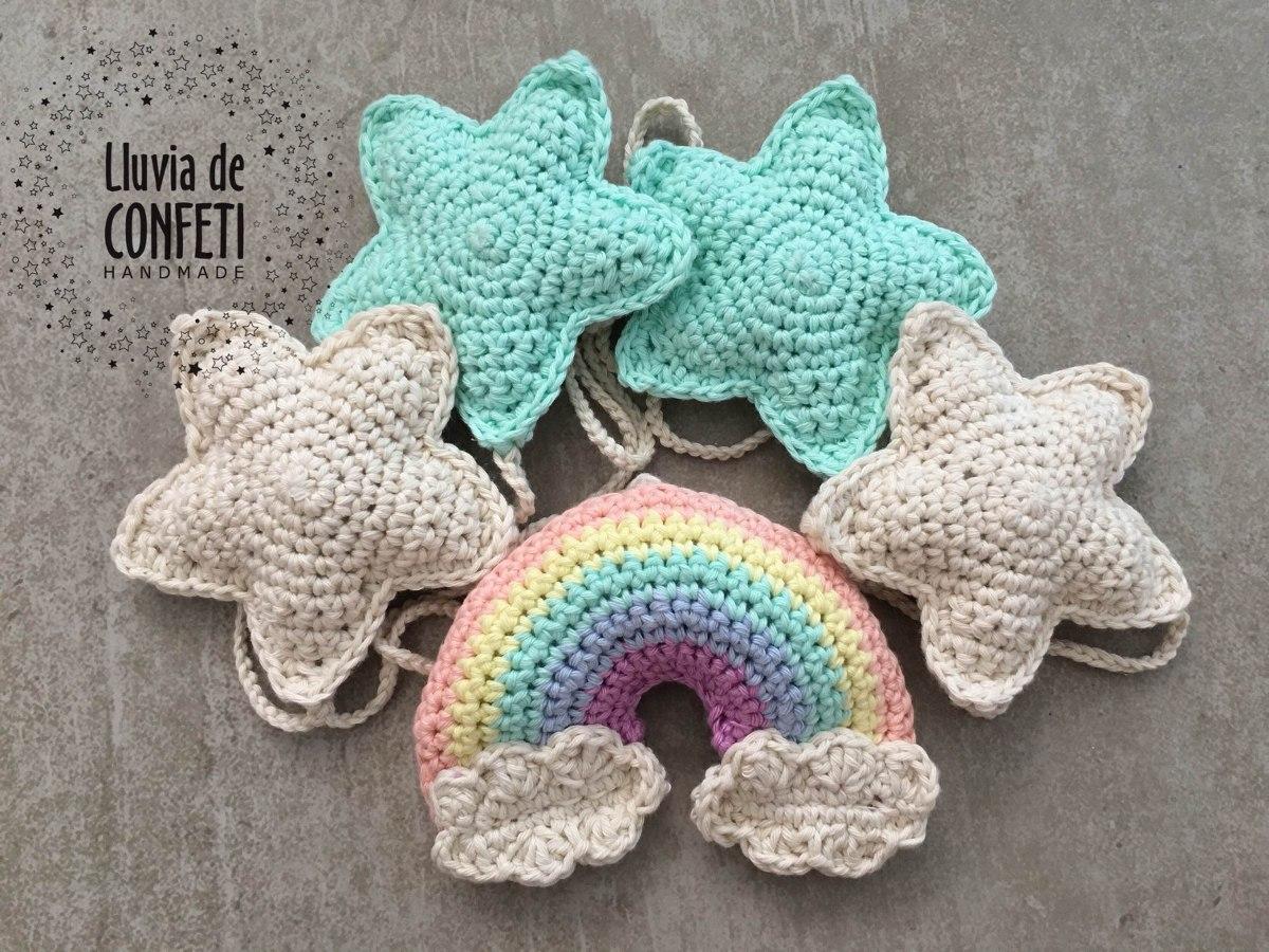 Bonito Arco Iris Patrón De Crochet Manta Colección de Imágenes ...