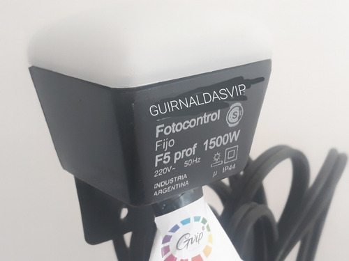 guirnalda automática celula solar 10 mts con focos vintage