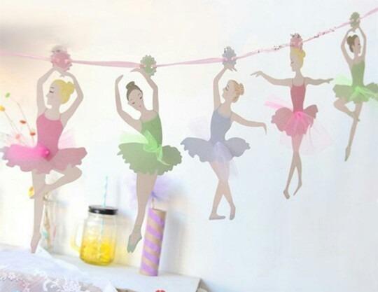 d89ddae1fe70d Guirnalda Bailarinas De Colores Cumpleaños Babyshower -   115