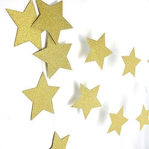 Guirnalda Banderín Círculos Estrellas Corazones Dorado Plata 150