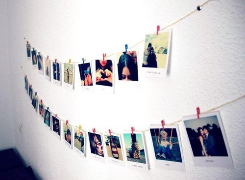 guirnalda banderin fotos polaroid cuadro decorativo x 12