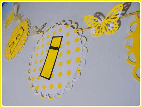 guirnalda banderín nombre 5 letras bautismo comunión cumples