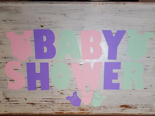 guirnalda banderines baby shower cumple bautismo o deco