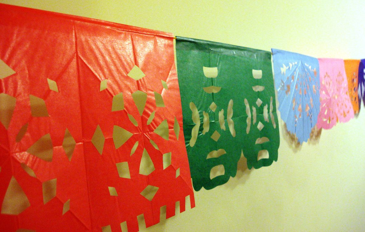 hacer banderines de papel Guirnalda Banderines Papel Picado Estilo Mexicano