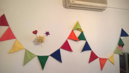 guirnalda banderines tela 16x20 cosidos en sesgo (no hilo)