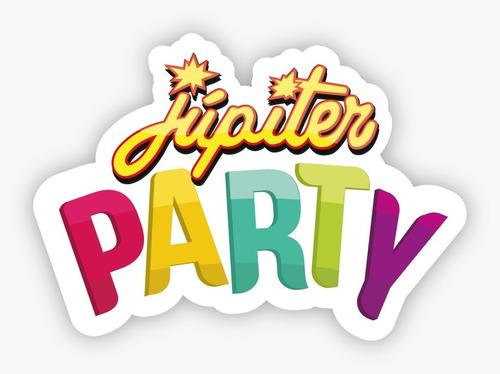guirnalda celeste baby shower  x4 unidades - jupiter party