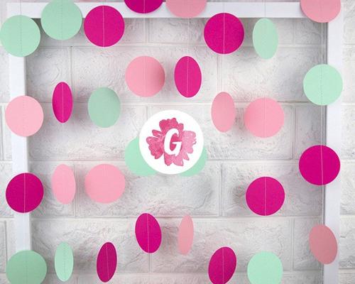 guirnalda colores babyshower casamientos cumpleaños eventos