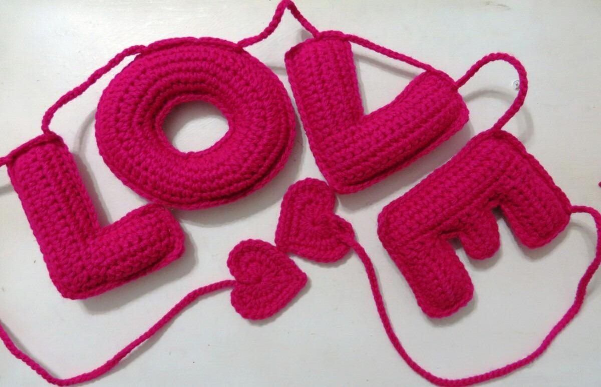 Guirnalda Con Nombre, Letras A Crochet! Regalo Original! - $ 400,00 ...