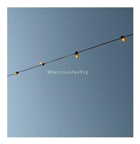 guirnalda de 20 mts con luces foquitos 24 wts. 1 por metro