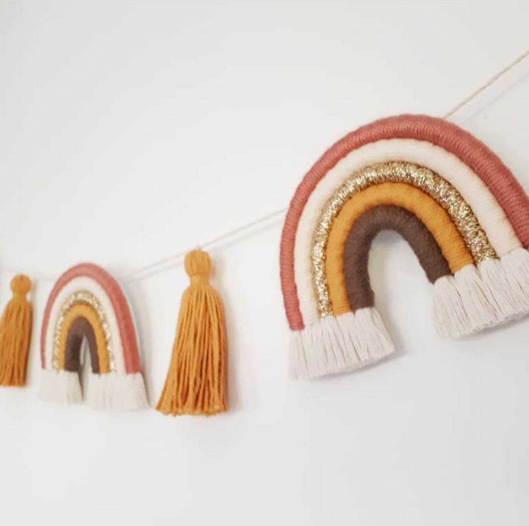 Guirnalda De Arcoiris Para Pared O Cuna De Bebés Decorativa