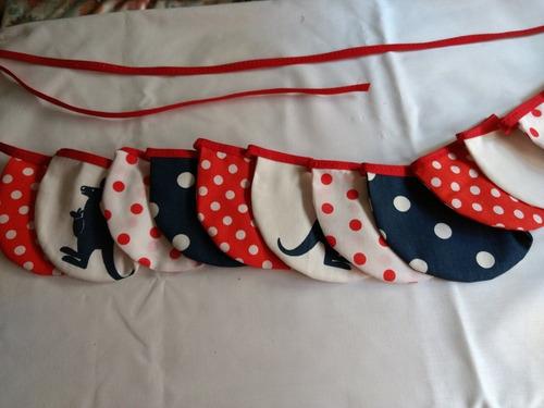 guirnalda de banderines terminación redondeada