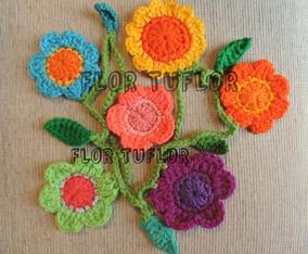 Flores Y Hojas Tejidas A Crochet En Mercado Libre Argentina