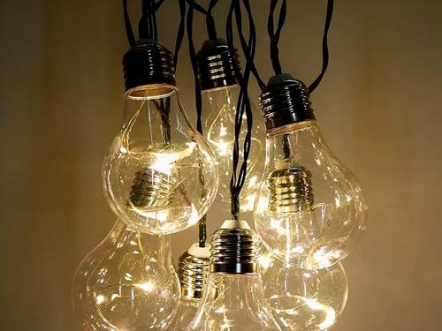 guirnalda de lamparitas tira luces led calida