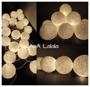 96c3ce71f07 Guirnalda De Luces Esfera De Hilo Blancas Luz Led A Pilas -   369