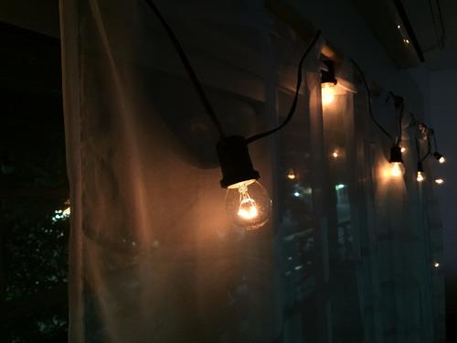 guirnalda de luces intemperie x metro kermesse calidas e27
