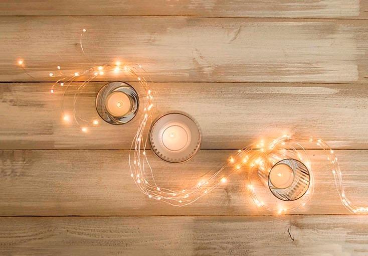 Guirnalda de luces mini luces led luciernagas 250 - Guirnalda luces led ...