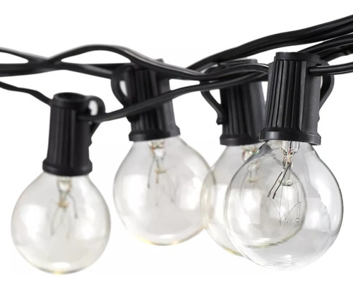 guirnalda de luces vidrio exterior e interior - vintage
