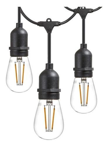 guirnalda exterior 10 mt para 10 lamparas calidad americana