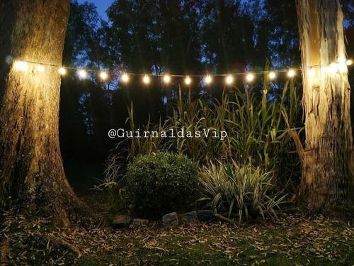 guirnalda exterior 10 mts + luces y celula fotosensible