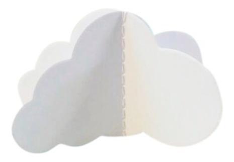 guirnalda fantasía corazones nube 3d - jupiter party