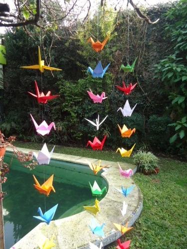 guirnalda grullas papel origami souvenir infantil zon nort