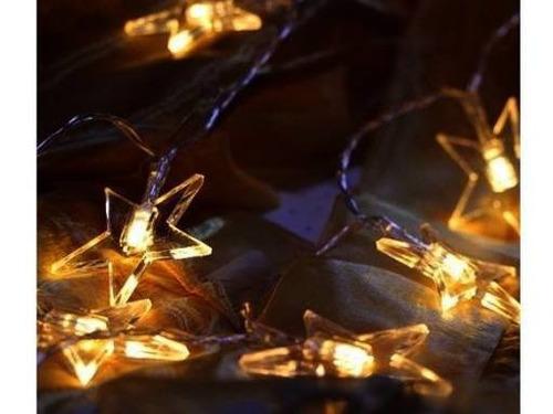 guirnalda led 20 estrellas calidas 3 mts extensibles a 220v