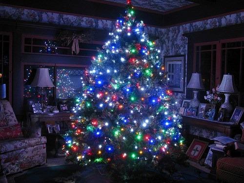 Arbol navidad con luces luces navidad arbol navidad en - Tiras led navidad ...