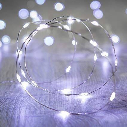 guirnalda luces 20 micro led hadas 2 mtrs pilas blanco frio