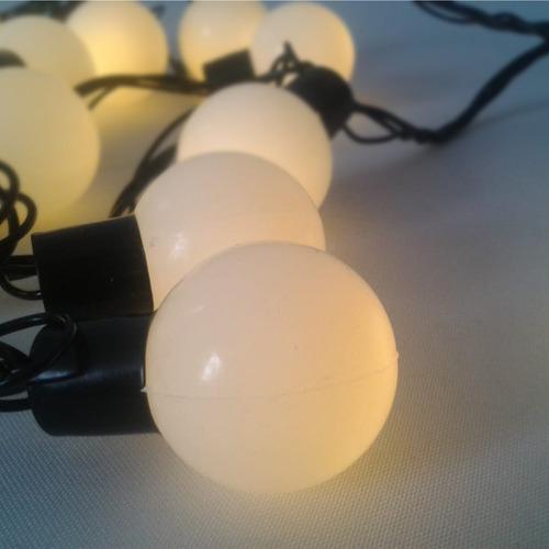 guirnalda luces feria 8 m navidad tira bolitas calido 220v