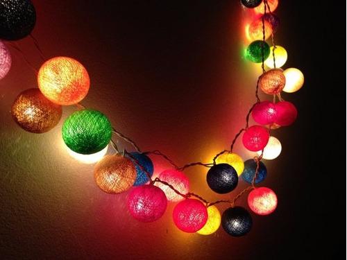 Guirnalda luces gu a led de colores para decorar jard n - Luces led de colores ...