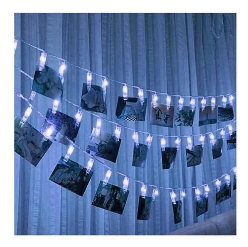guirnalda luces led 28mini broches 5 mts a pilas navidad
