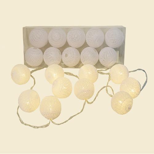 8d8c10313a3 Guirnalda Luces Led A Pila Esferas Blancas -   280