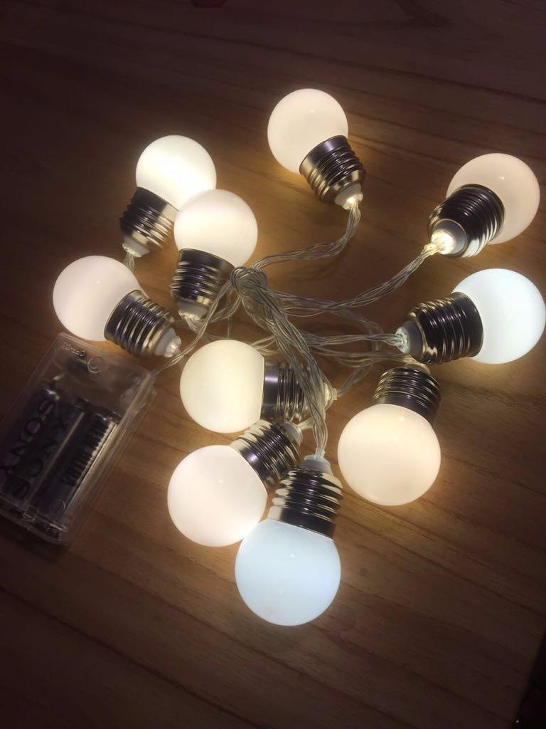 2a1ee423e1b guirnalda luces led blanca kermesse a pila de 2 metros. Cargando zoom.
