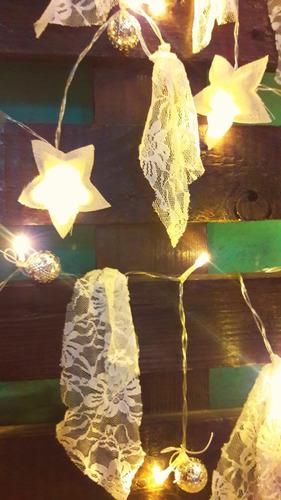 guirnalda luces led pilas 4 mt estrella corazon 4 metros