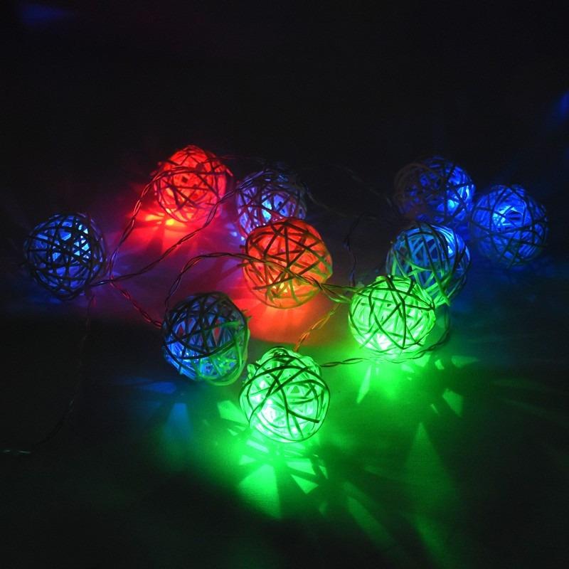 Guirnalda luces multicolor gu a led colores bolas p for Luces de colores