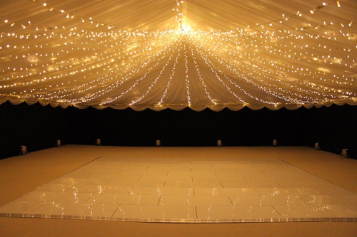 guirnalda luz calida lamparas led 9mts bodas shows eventos