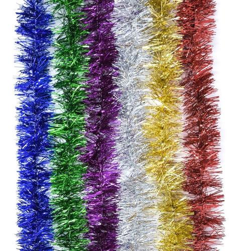 guirnalda navidad colores surtidos 6.5 cm x 2 m #107