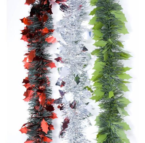 guirnalda navidad fantasía bicolor 10 cm x 2 m #319
