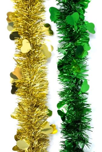 guirnalda navidad fantasía bicolor 10 cm x 2 m #320