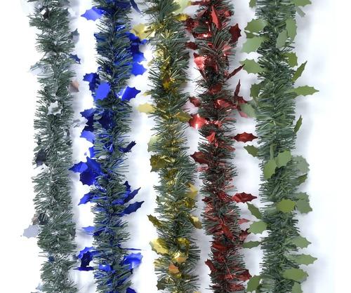 guirnalda navidad fantasía metal-verde pino 9 cm x 2 m #321