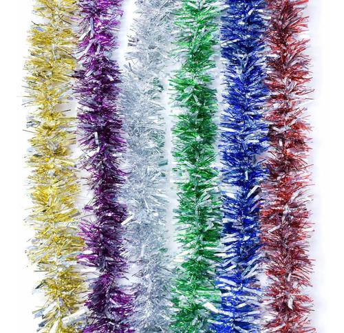 guirnalda navidad laser color 6 cm x 2 m #177
