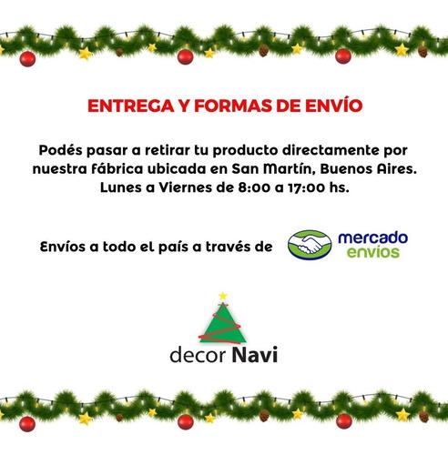 guirnalda navidad verde pino con metal 6 cm x 2 m #260-c