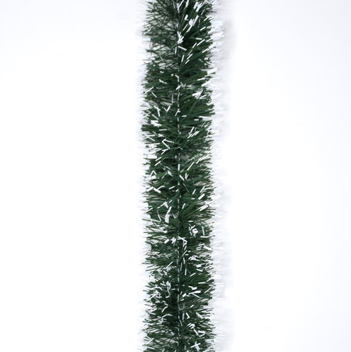 guirnalda navidad verde punta blanca 10 cm x 2 m #186