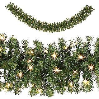 guirnalda navideña luces led pilas aa 2.75mts x 25cm calida