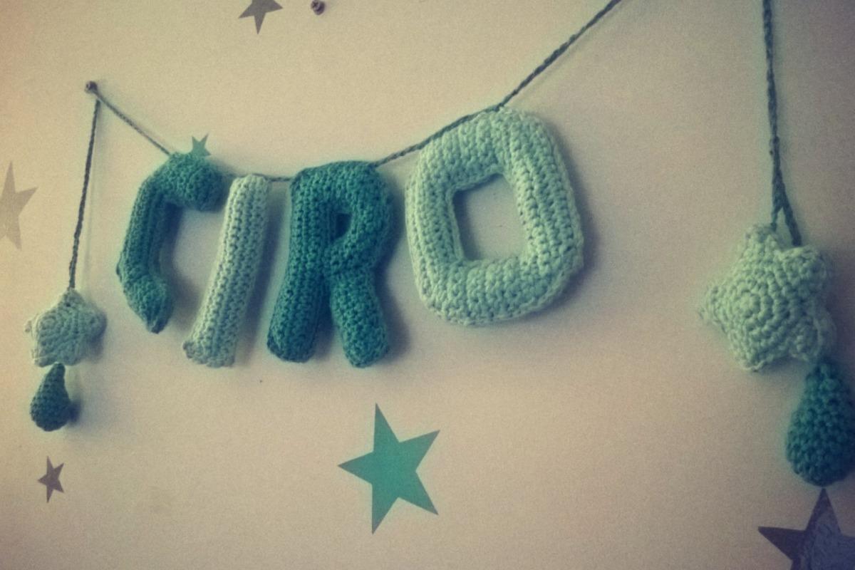 Guirnalda Nombre De Nacimiento Bebe A Crochet - 4 Letras - $ 700,00 ...